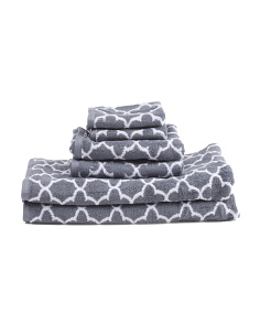 Made In India Iron Gate 6 Pc Towel Set