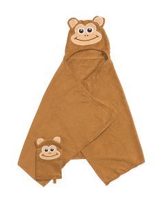 Kids Monkey Towel And Mitt Set