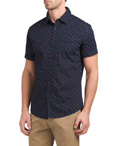 Multicolored Polka Dot Woven Shirt