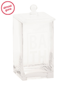 Large Glass Bath Canister With Lid