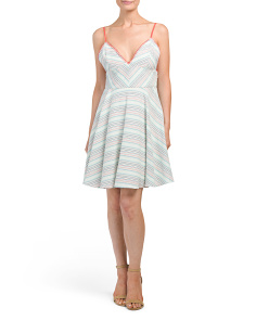 Juniors Striped Whipstich Dress
