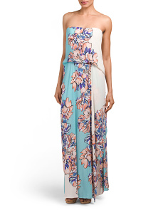 Grace Strapless Printed Long Dress