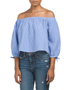 Juniors Mini Gingham Top