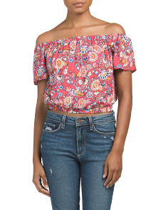 Juniors Off The Shoulder Open Back Top