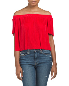 Juniors Off The Shoulder Boudre Top