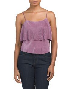 Juniors Ruffled Beaudry Camisole