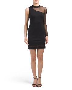 Juniors Mesh Bodycon Dress