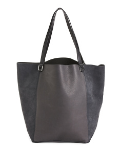Tiffany Square Open Leather Tote
