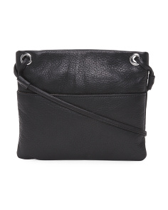 Mini Square Leather Crossbody