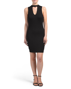 Juniors Made In USA Choker Bodycon Dress