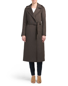 Rebecca Wool Coat With Epaulettes