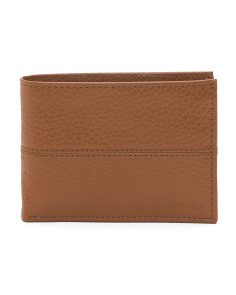 Pebbled Leather Billfold Wallet