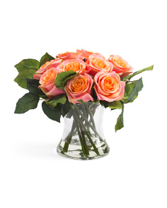 Faux Rose Floral Arrangement
