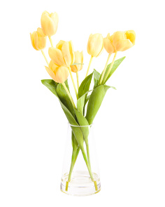 Faux Tulip Floral Arrangement