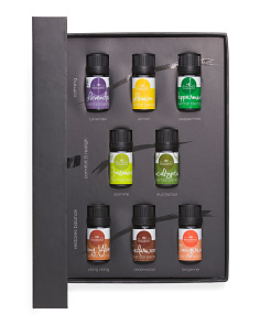 8pc Aromatherapy Essential Oil Set