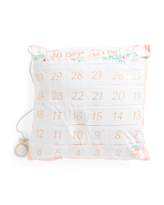 20x20 Wedding Count Down Pillow