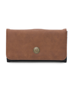 Talia Large Tri Fold Leather Wallet