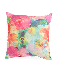 Made In India 20x20 Indoor Outdoor Floral Pillow