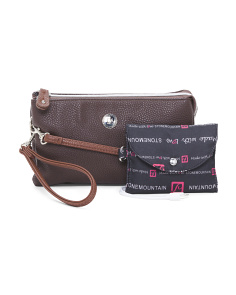 Charging Leather Crossbody