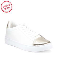Lace Up Cap Toe Sneakers