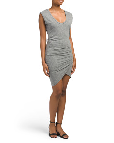 Made In USA Scoop Neck Twisted Dress