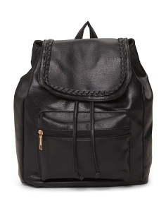 Quilted Front Flap Backpack
