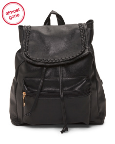 Quilted Flap Front Backpack