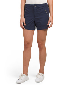 Zip Pocket Rolled Cuff Shorts