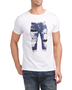 Denim Pant 3D Graphic T Shirt