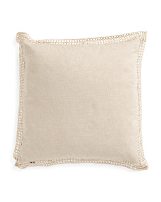 Made In India 20x20 Linen Pillow