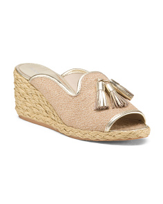 Espadrille Wedge Slides