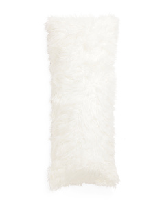 20x48 Faux Mongolian Fur Body Pillow