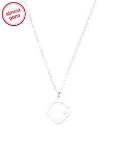 Made In Italy Sterling Silver G Rombo Necklace