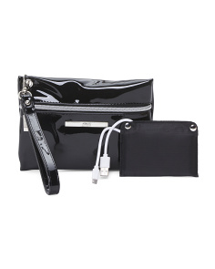 Zip Wristlet With Portable Charger