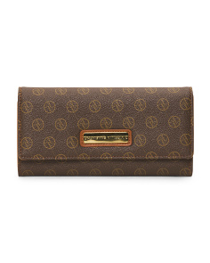 Signature Flap Clutch Wallet