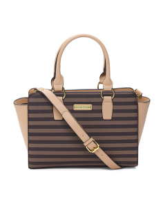Signature Stripe Satchel
