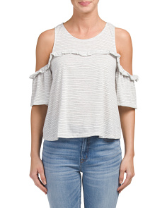 Made In USA Cold Shoulder Knit Top