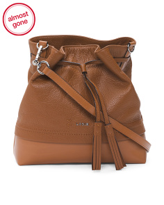 Kate Cara Convertible Drawstring Leather Bag