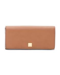RFID Protected Leather Clutch Wallet