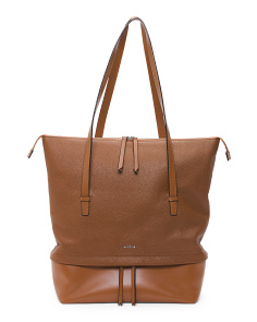 Kate Barbara Leather Commuter Tote