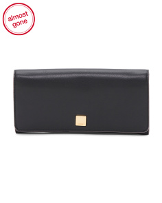 RFID Protection Leather Clutch Wallet