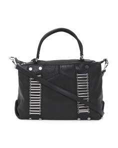 Hardware Accented Soft Leather Bag