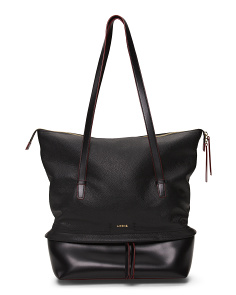 Kate Barbara Commuter Leather Tote