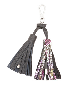 Leather Purse Tassel With Charging Cables