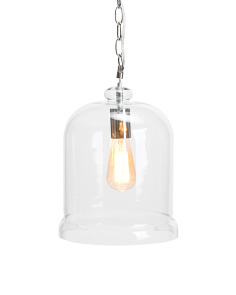 Glass Pendant With Edison Bulb