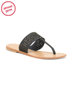 Made In Italy Leather Thong Sandals