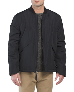 City Bomber Jacket With Sherpa Lining