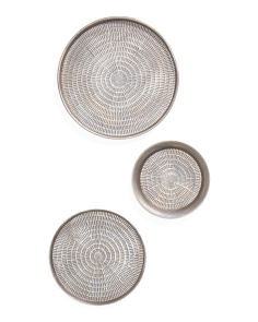 Set Three Circle Wall Decor