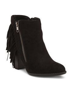 Fringe Side Zip Booties