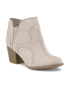 Whip Stitch Low Booties